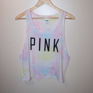 ✨PINK / Victoria's Secret✨ Tie Dye Tank Top